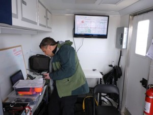 Search Manager Jeff in command post